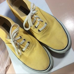 ESprit Yellow Cloth Athletic Walking Shoes